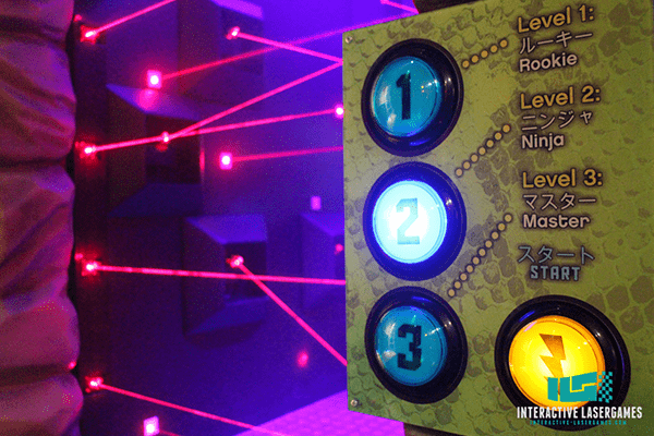 Startpanel vom Laserspiel in Tokya