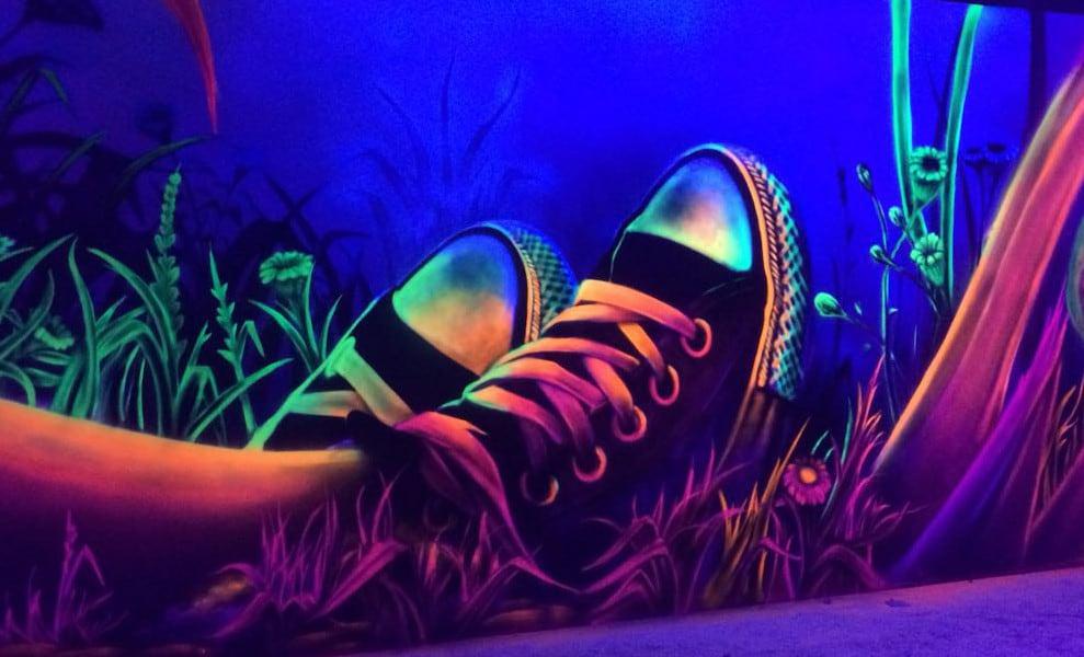 Graffitikunst Turnschhue