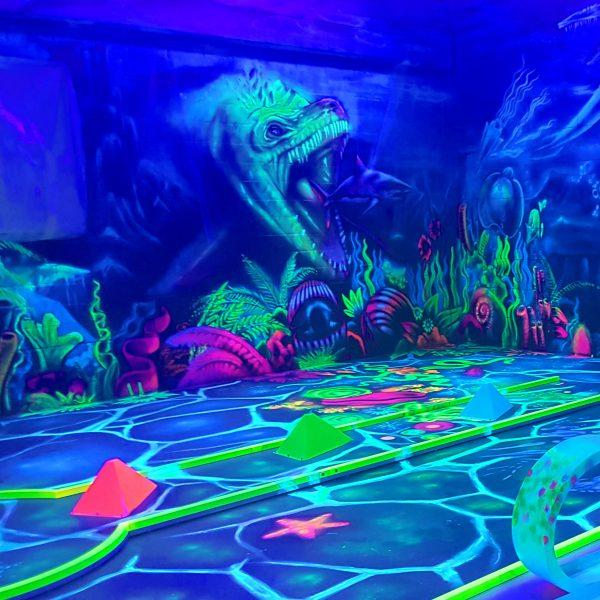 Graffitikunst 3D Fisch