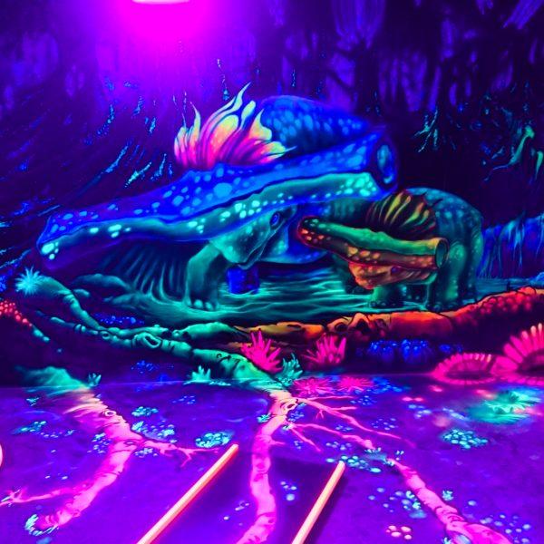 3D Schwarzlicht Dinowelt