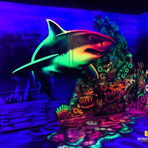 Graffitikunst Haifisch