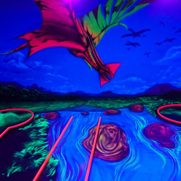 Flugsaurier der unter UV-Licht 3D wirkt