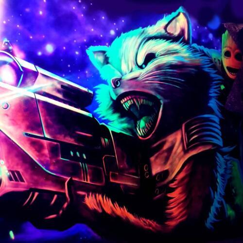 Lasermaze Schwarzlicht Kunst